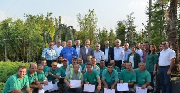 Bahçıvanlar sertifikalarını aldı