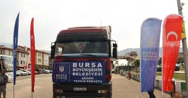 Bursa'dan Artvin'e sel yardımı