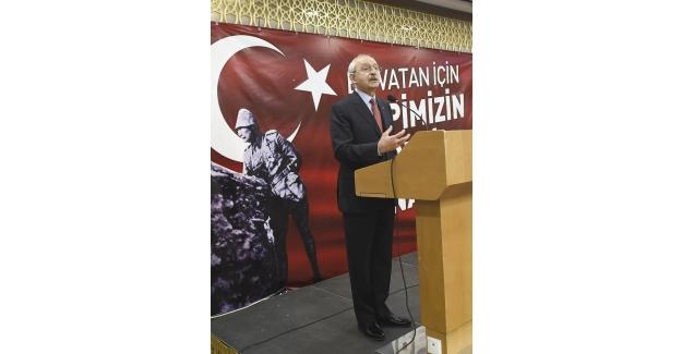 CHP Genel Başkanı Kılıçdaroğlu, şehit yakınları ve gazilerle bir araya geldi