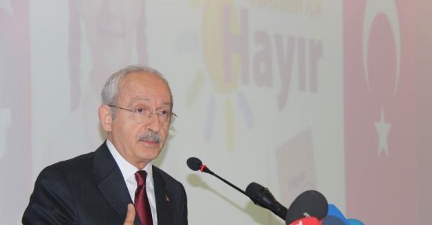 """Kılıçdaroğlu: """"Referandumda kimse kahveye konken ve taş oynamaya gitmesin"""""""