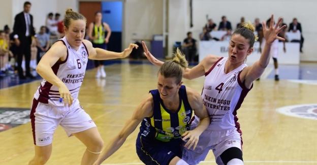 Bilyoner.com Kadınlar Basketbol Liginde Yakın Doğru Üniversitesi Fenerbahçe'yi 78-70 mağlup  etti.