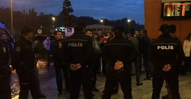 Bursasporlu futbolculara Trabzon Havaalanında tepki