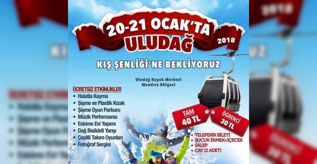 Uludağ Kış Şenlikleri  20 - 21 Ocak'ta yapılacak !