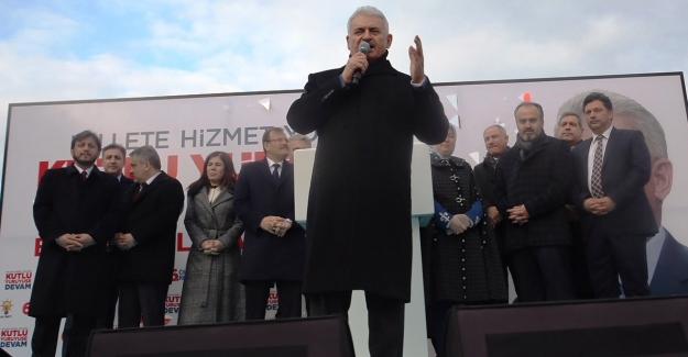 """Başbakan Binali Yıldırım Bursa'dan seslendi; """"Bursa, her şeyin en güzelini hak ediyor"""""""