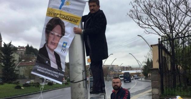 Ankara'da İyi Parti'nin Genel Kurul Bayrakları ve Afişleri Toplatıldı !..