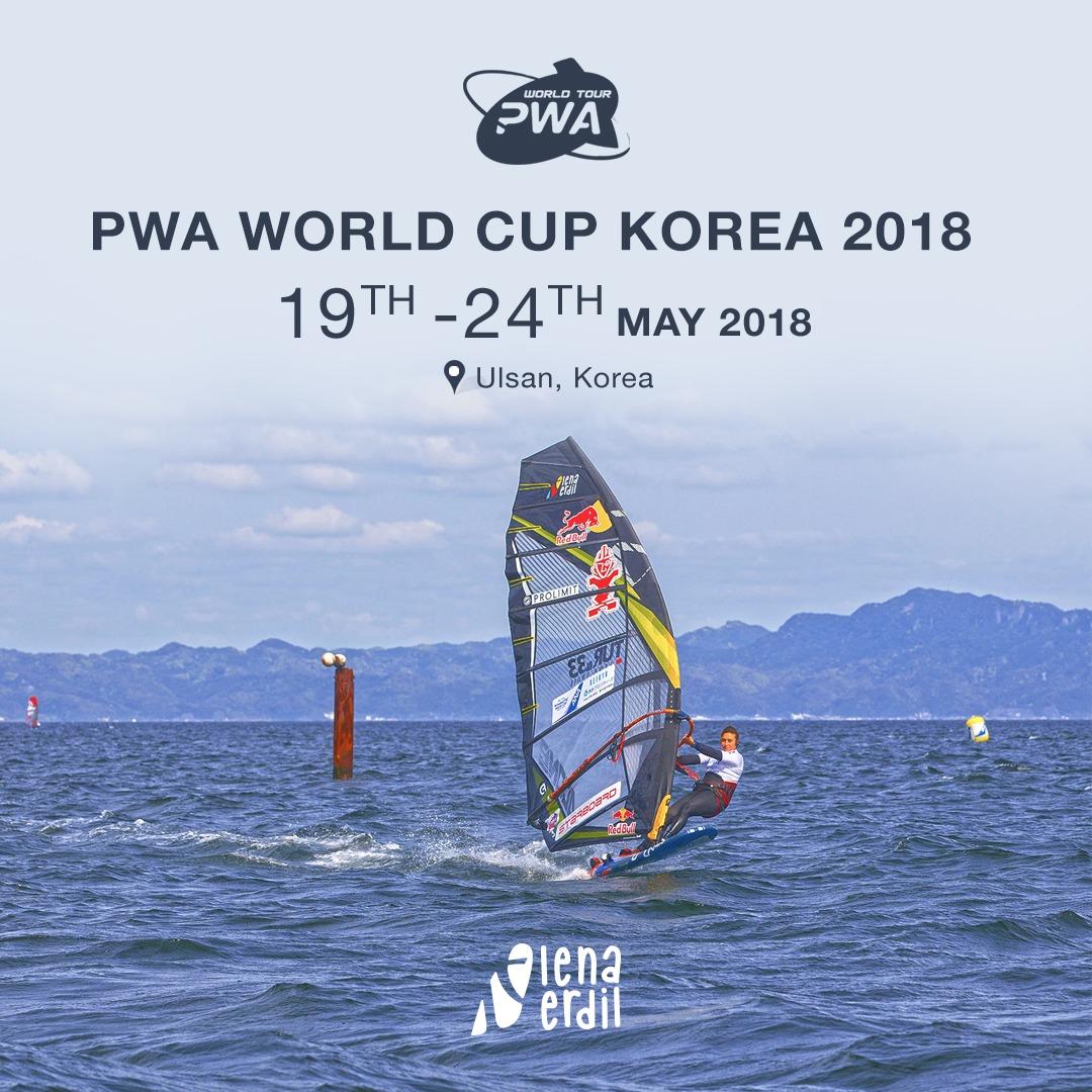 Lena Erdil, PWA Dünya Rüzgar Şampiyonası için Kore'de..
