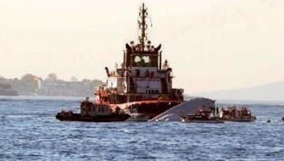 Sivriada açıklarında yük gemisi ile tanker çarpıştı