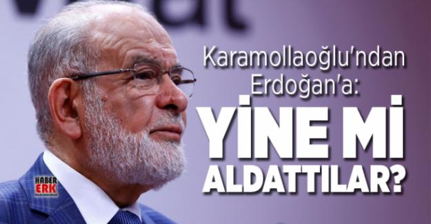 """Cumhurbaşkanı'nın McKinsey açıklamasını değerlendiren Temel Karamollaoğlu; """"Yine mi aldattılar?"""" dedi."""