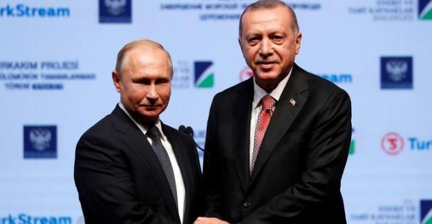 """Erdoğan ve Putin'den """"Türk Akım Töreni""""nde dostluk mesajı"""