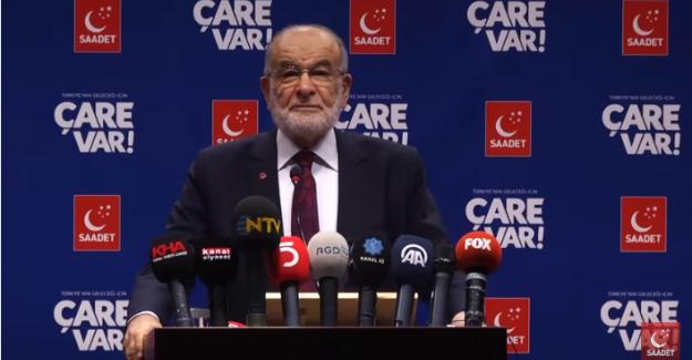 """Saadet Partisi Genel Başkanı Karamollaoğlu; """"İttifak gündemimizde yok. Dirsek teması olabilir"""""""