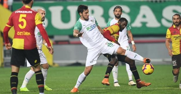 Spor Toto Süper Lig'in 16. hafta karşılaşmasında; Göztepe 0 – 0 Bursaspor