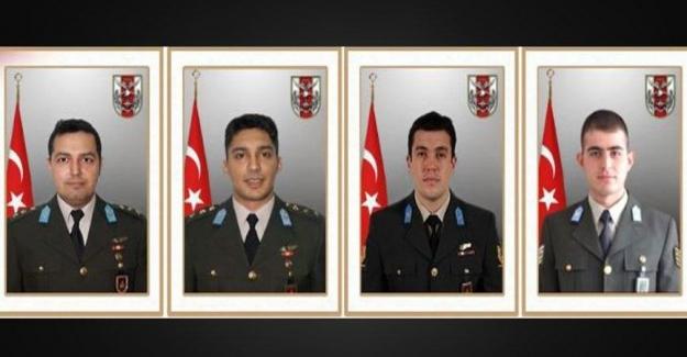 Askeri Helikopter kazasında Şehit olan 4 Askerimiz