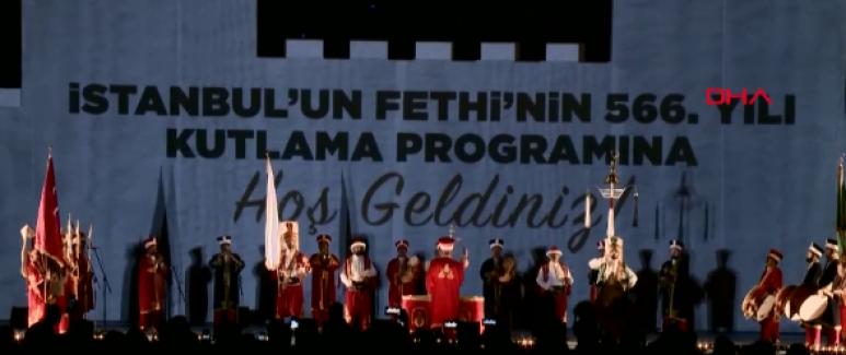 İstanbul'un fethinin 566. yılı kutlandı
