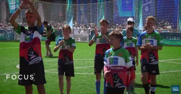 Çocukların dünya kupasında dostluk kazandı