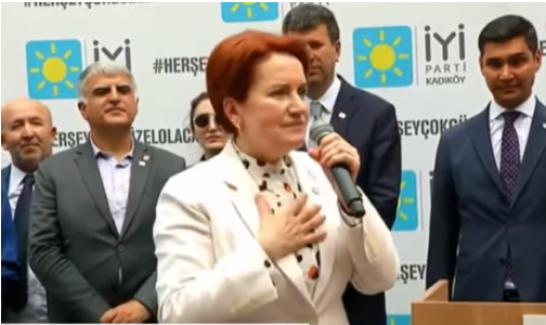"""Meral Akşener: """"En az 3 puan farkla Sayın İmamoğlu yeniden başkan olacak"""""""