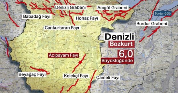 Denizli'de 6 şiddetinde deprem şok yarattı !!..