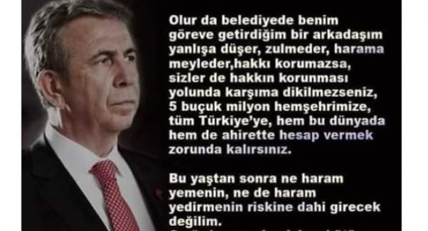 Ak Parti'li vekilden Mansur Yavaş'a destek