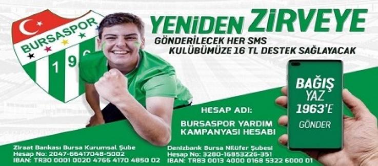 Bursaspor'a Bağış Kampanyası taraftardan yoğun ilgi görüyor