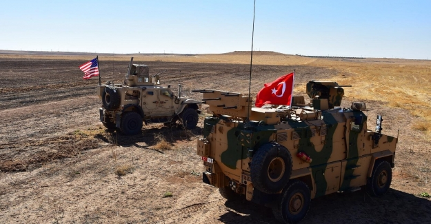 Fırat'ın doğusunda ABD Askerleriyle müşterek yapılan ilk kara devriyesi