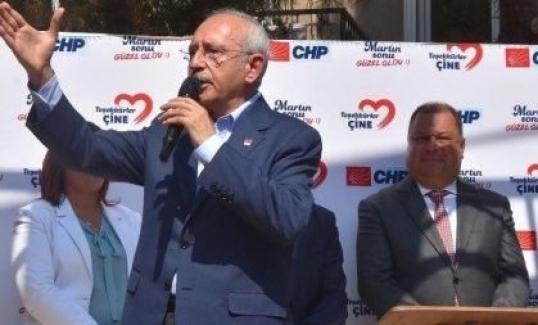 """Kılıçdaroğlu Aydın'dan """"Referandum"""" çağrısı yaptı."""