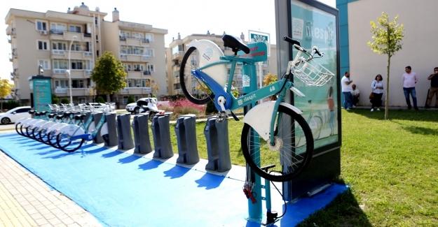 Nilüfer'de bisiklet tamir istasyonları kuruluyor