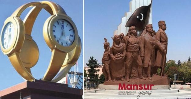 Ankara TBMM Kavşağı'nda  'kol saati' gitti, yerine 'Atatürk' geliyor