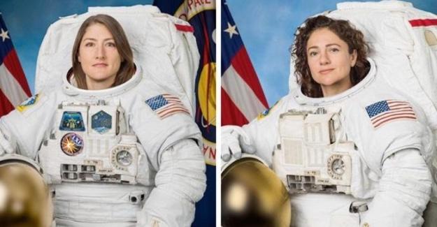 Uzayda yürüyen kadınlar