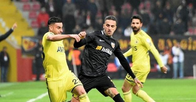 Kupada Kayserispor ile Fenerbahçe'den gol sesi çıkmadı