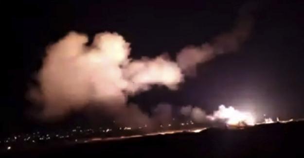 Suriye devlet televizyonu: Şam hava sahasına giren düşman hedefler vuruldu