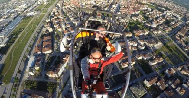 Başkan Alper Taban Bayramı Gökyüzünden Kutladı