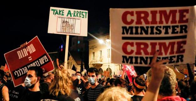 İsrail'de hükümet karşıtı protestolar devam ediyor