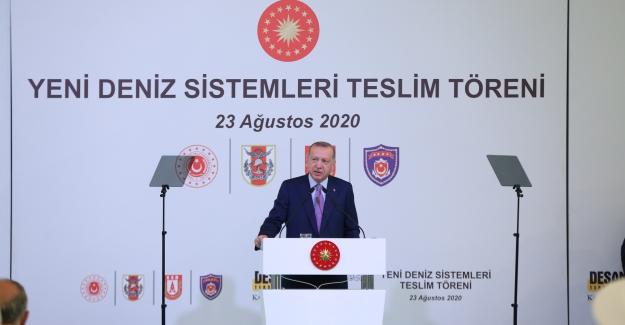 """Cumhurbaşkanı Erdoğan: """"İkinci, üçüncü uçak gemilerini inşa edelim"""""""