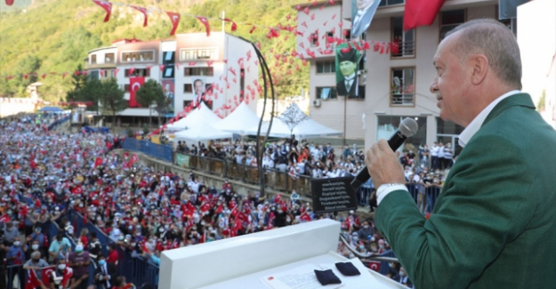 """Erdoğan'dan Dereli halkına müjde: """"Selden etkilenen esnafa 50 bin liraya kadar hibe verilecek"""""""