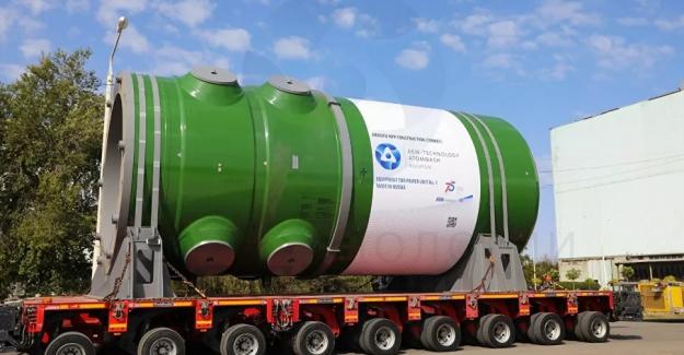 Akkuyu Nükleer Santrali'nin 1 No'lu ünitesine ait reaktör kabı gönderildi