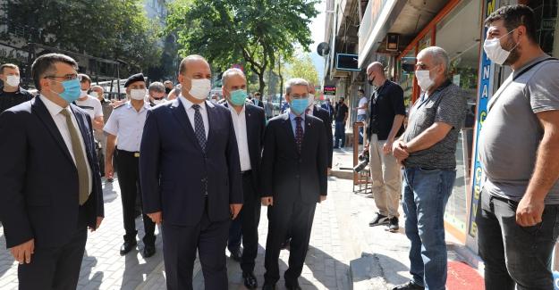 Bursa Valisi'nden maske, mesafe ve hijyen denetimi