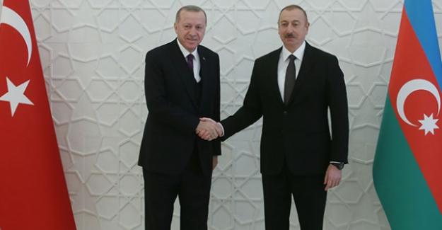 """Cumhurbaşkanı Erdoğan: """"Türk Milleti imkanlarıyla Azerbaycanlı kardeşlerinin yanında"""""""