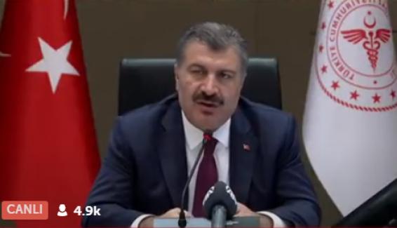"""Sağlık Bakanı Koca: """"Salgının sonunun yakın olduğu görülüyor"""""""