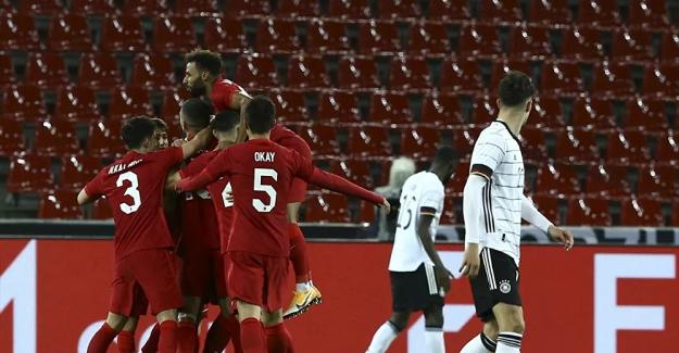 A Milli Futbol Takımımız, deplasmanda Almanya ile 3-3 berabere kaldı