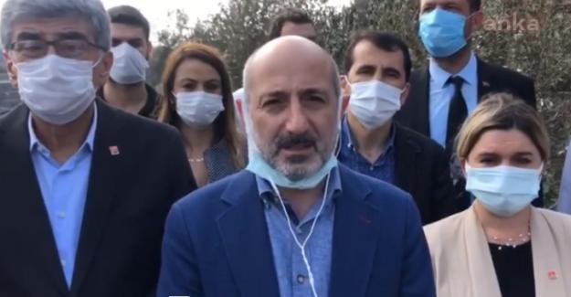 """CHP heyeti Hatay'da incelemelerde bulundu: """"Yanmıyor, Yakılıyor"""""""
