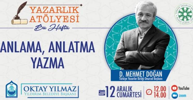 TYB Onursal Başkanı Yazar Davut Mehmet Doğan Bursa'da