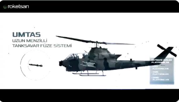Ülkemizin ilk yerli tasarım hassas güdümlü tanksavar füze sistemi UMTAS tanıtılıyor
