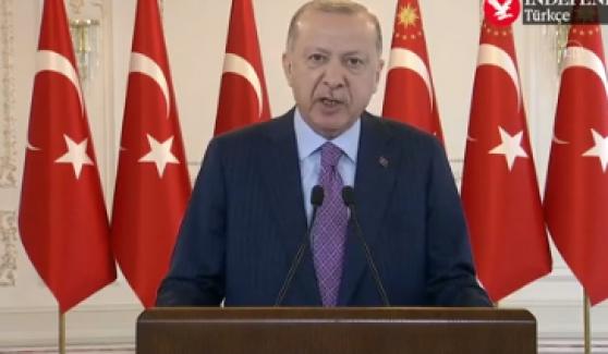 """Erdoğan: """"Sadece medya ile çeteler ile değil, Türkiye'nin başına musallat olan takoz muhalefetle de mücadele ettik"""""""