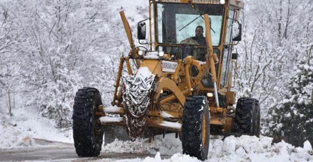 Gemlik'te kar ulaşıma engel değil