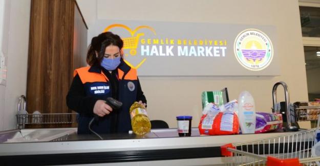Halk Market'ten faydalanan aile sayısı 350'yi geçti