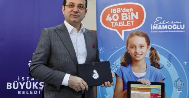 İBB'den Öğrecilere 40 Bin Tablet Dağıtımı