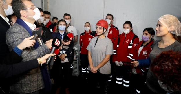 Kadın İtfaiye Eri Adayları kıran kırana yarıştı