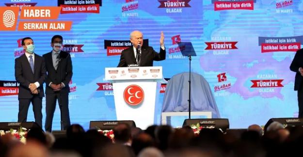Bahçeli 10. Defa MHP Genel Başkanlığı'na Seçildi