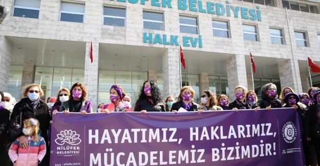Nilüferli kadınlar 8 Mart Dünya Kadınlar Günü'nü Anma Etkinliği Yaptılar