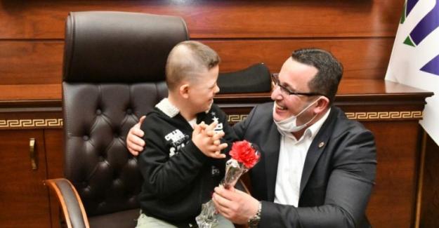 Özel Çocuklar Başkan Mehmet Kanar'ın özel misafiri oldular