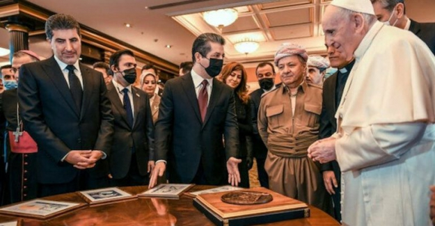 Papa'nın Irak ziyaretinde Kürdistan haritası rezaleti!..